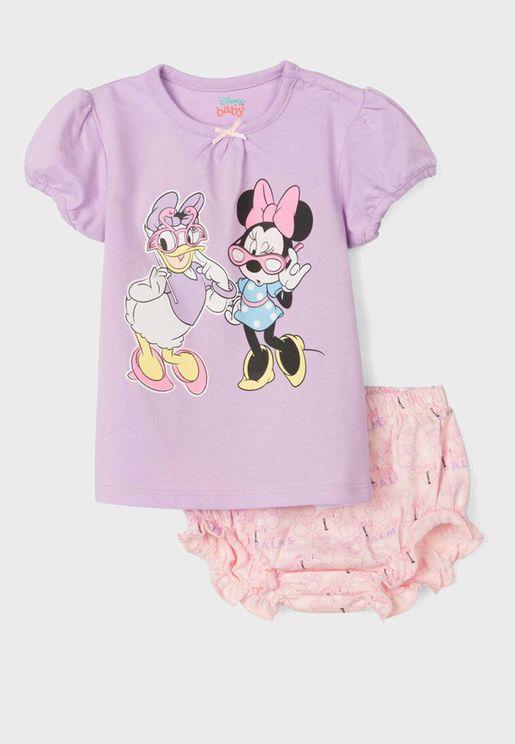 Infant Minnie & Daisy Print Pyjama Set