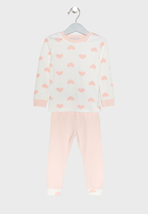 Love Print Pyjama Set