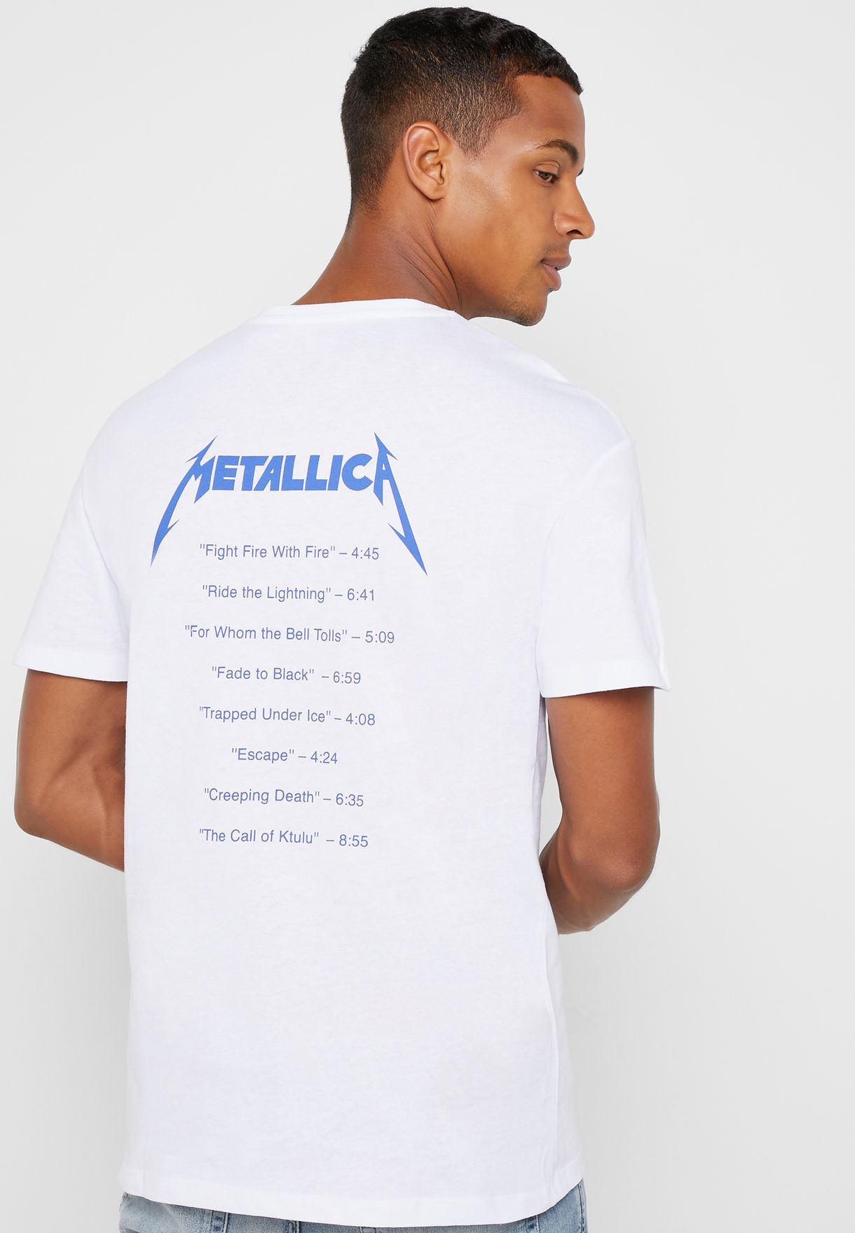 Metallica Print Crew neck T- Shirt