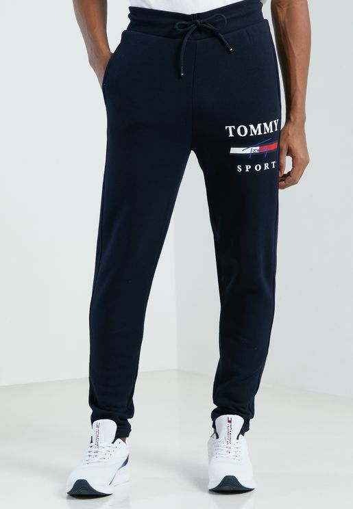 Graphic Fleece Cuffed Sweatpants