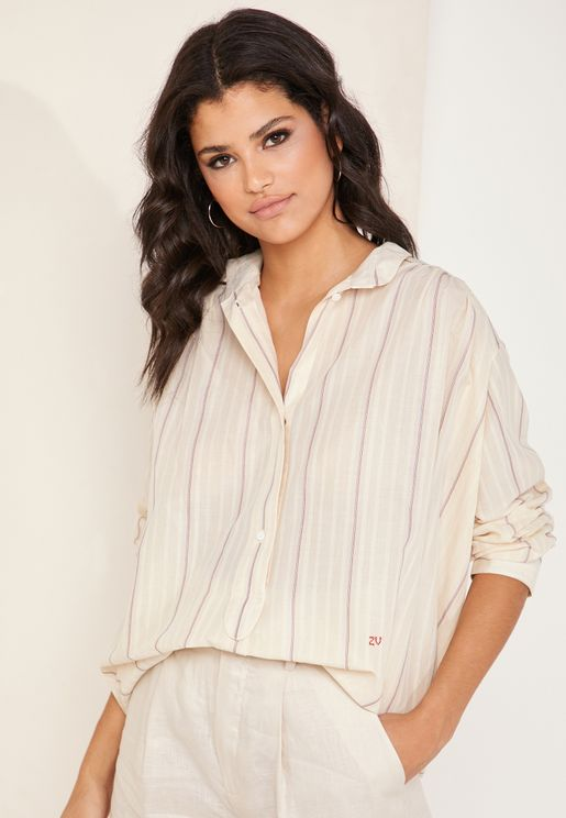 Talia Drop Shoulder Oversized Shirt