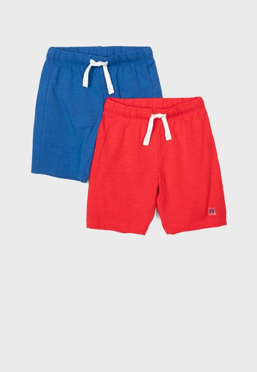 Kids 2 Pack Assorted Shorts
