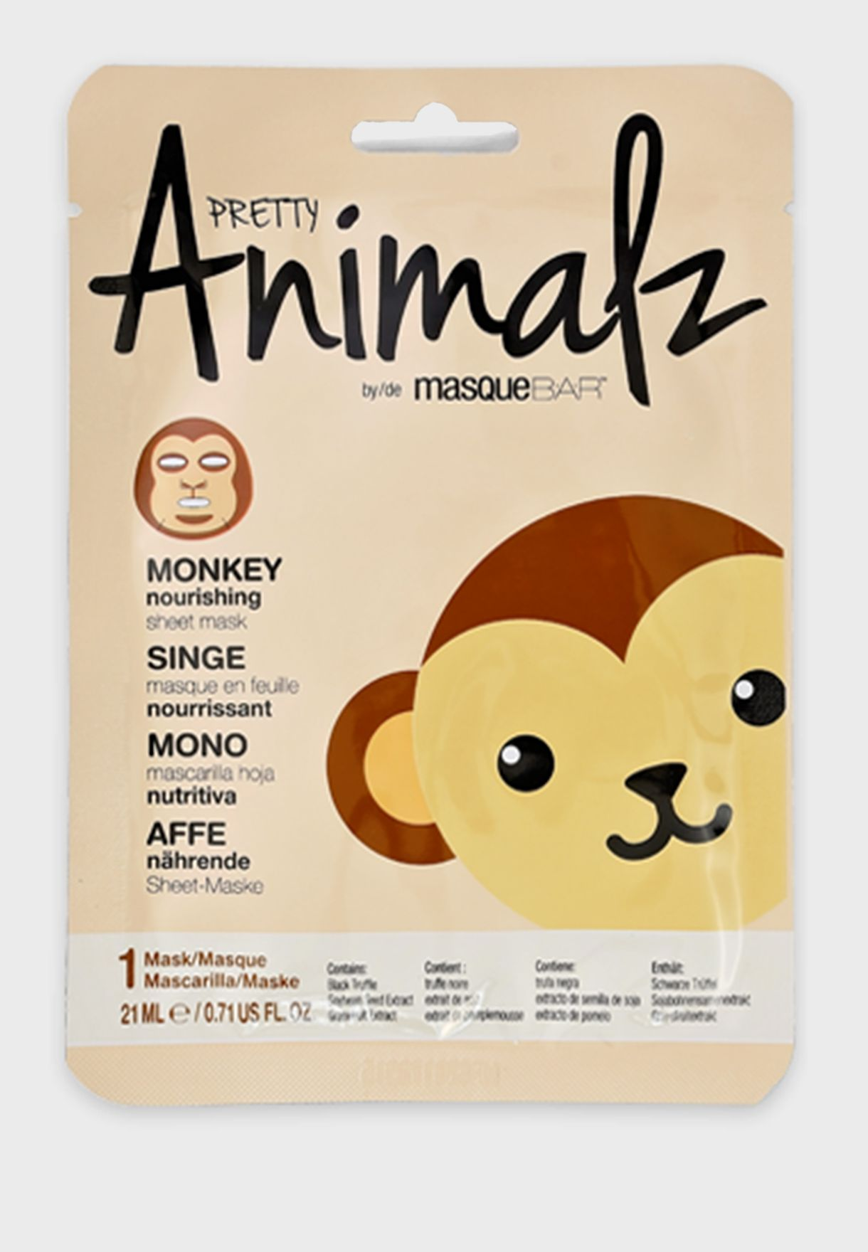 Pretty Animalz Monkey Nourishing Sheet Mask 21ml