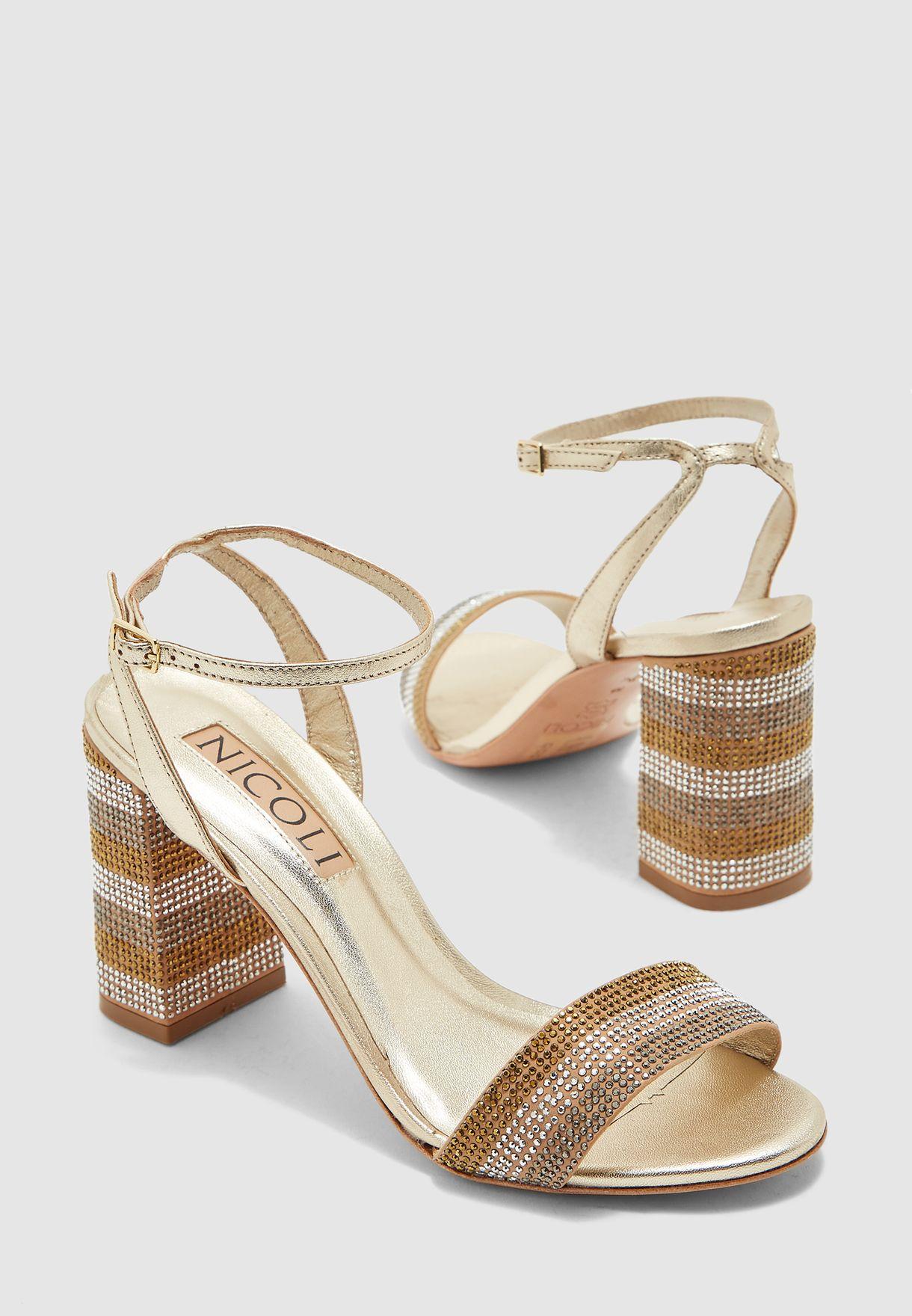Alexia Ankle Strap Block Heel Sandal