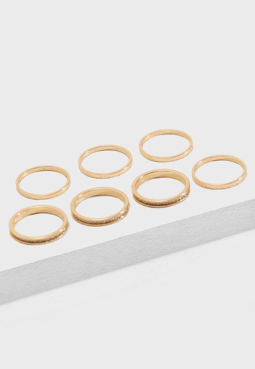 Glitter Ring Set
