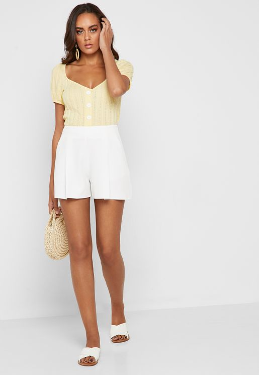Pleated Tailored Shorts