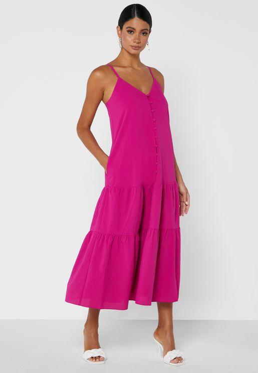 فستان بنمط طبقات