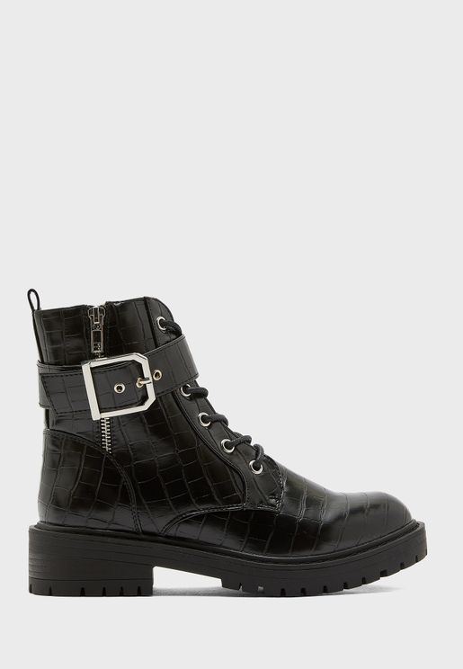 Beem Croc Laceup Chunky Boot