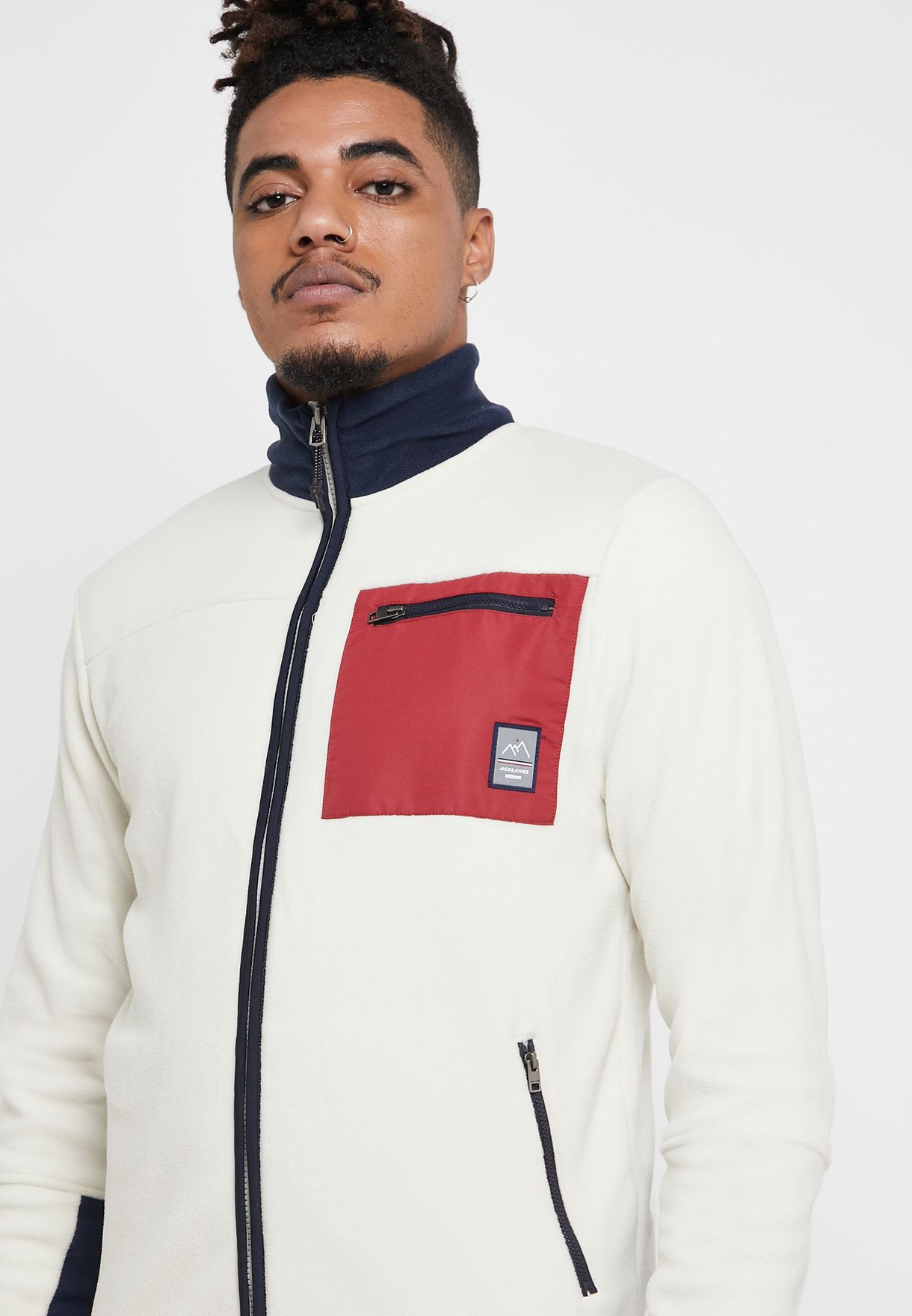 Stam Zipped Fleece Sweatshirt