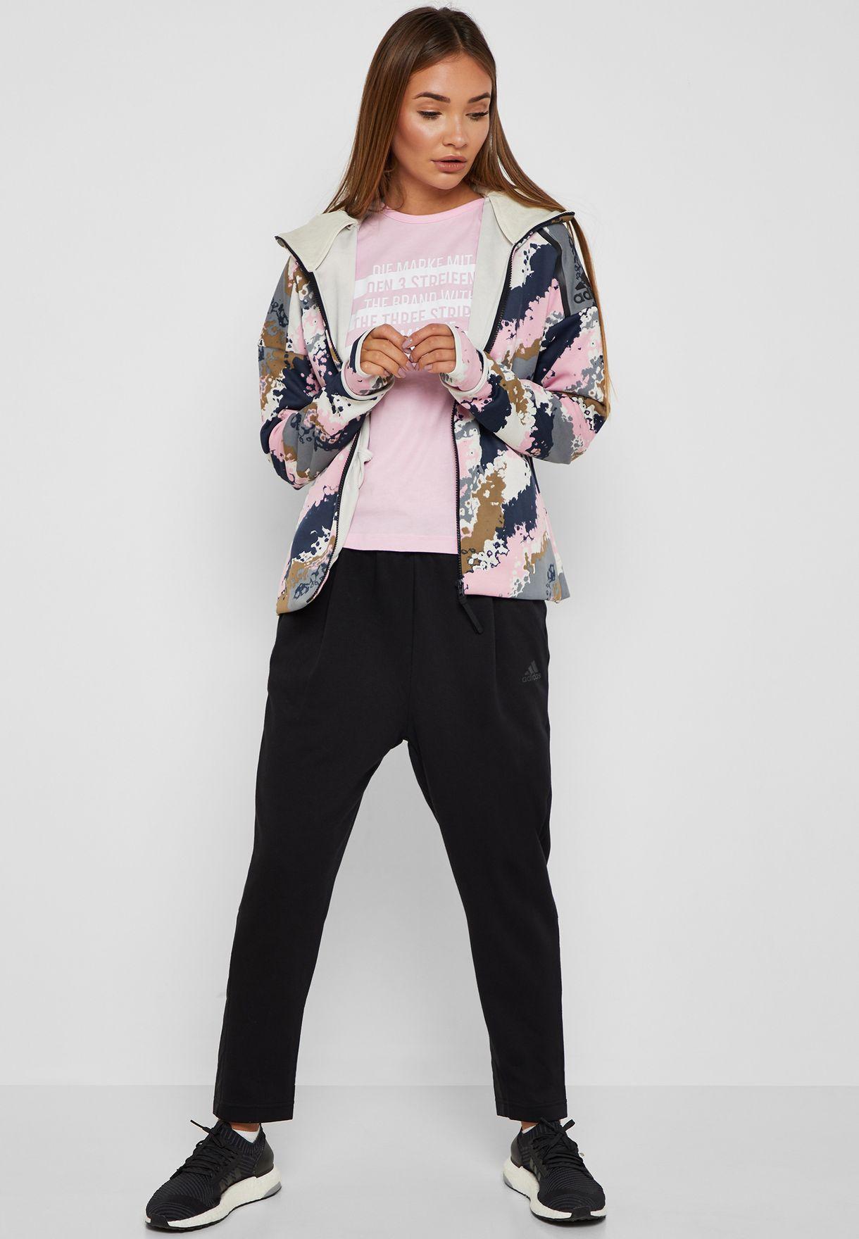 ad2dfef20fa9 Shop adidas black ID Wind Sweatpants DT9340 for Women in UAE ...