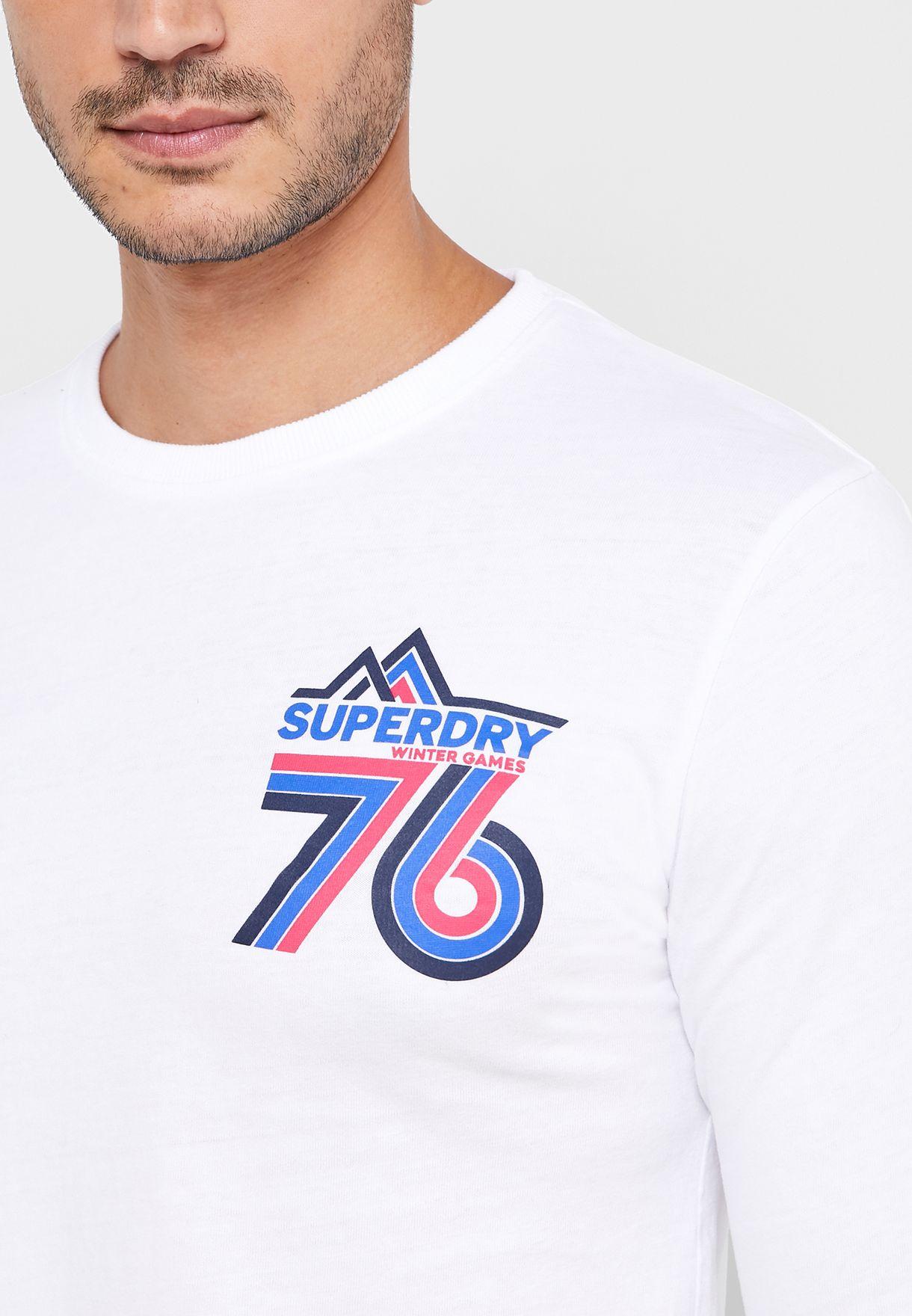 Downhill Racer Crew Neck T-Shirt