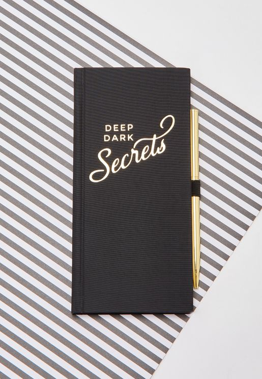 Deep Dark Journal With Pen