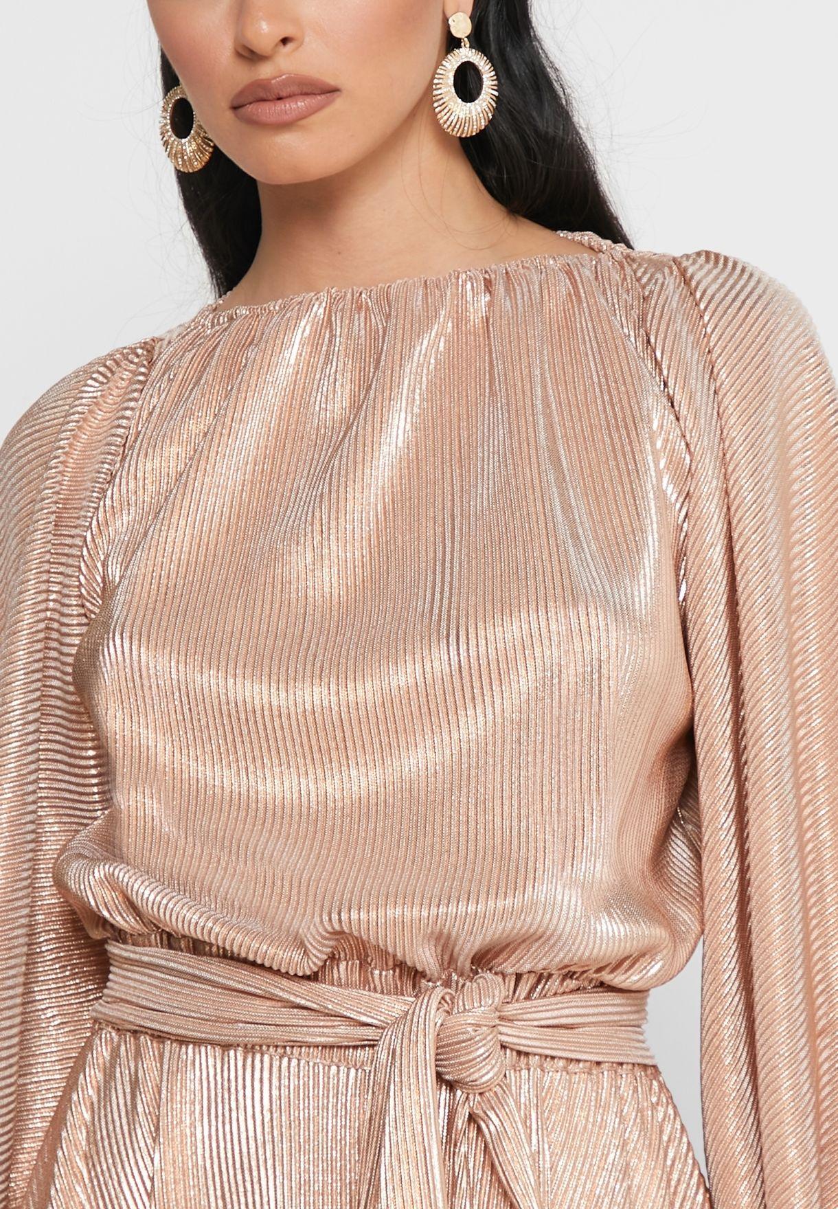 Shimmer A-line Dress