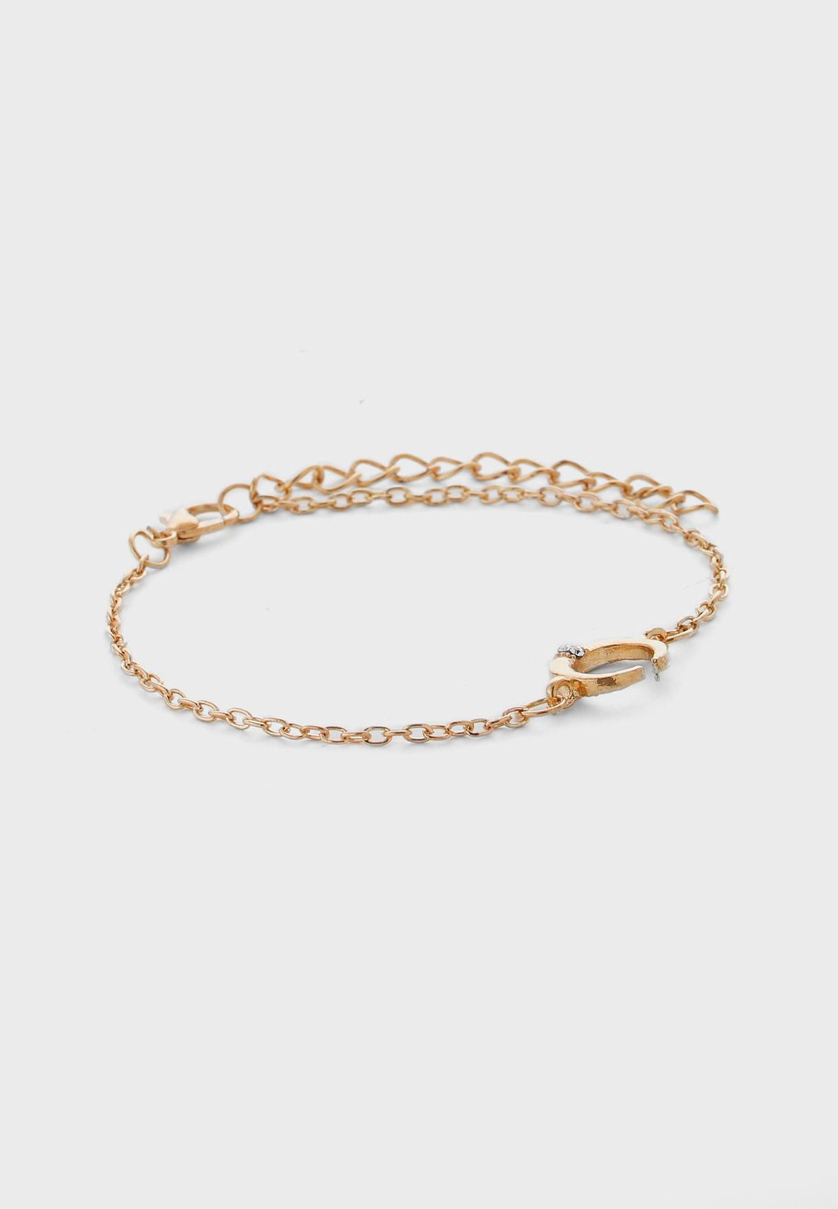 Pack Of 5 Bangle And Chain Charm Bracelets
