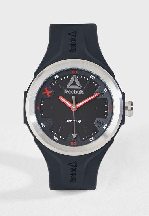 Sleek Silicon Strap Watch