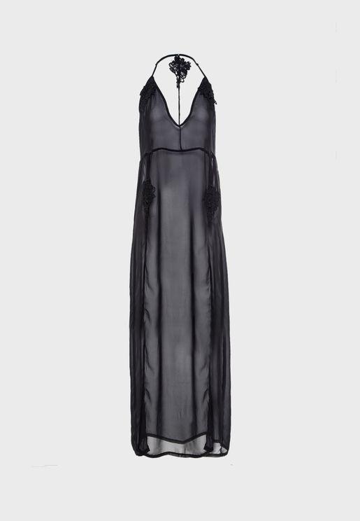 Open Back Plunge Nightdress