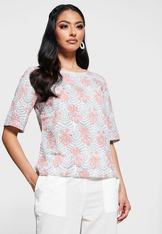 Cotton Hand Block Printed Top