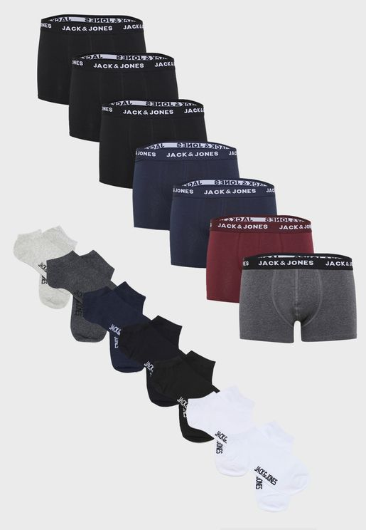 7 Pack Logo Band Trunks + Socks Set