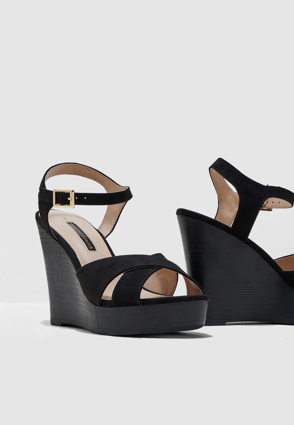 Radical Stacked Wedge Sandal