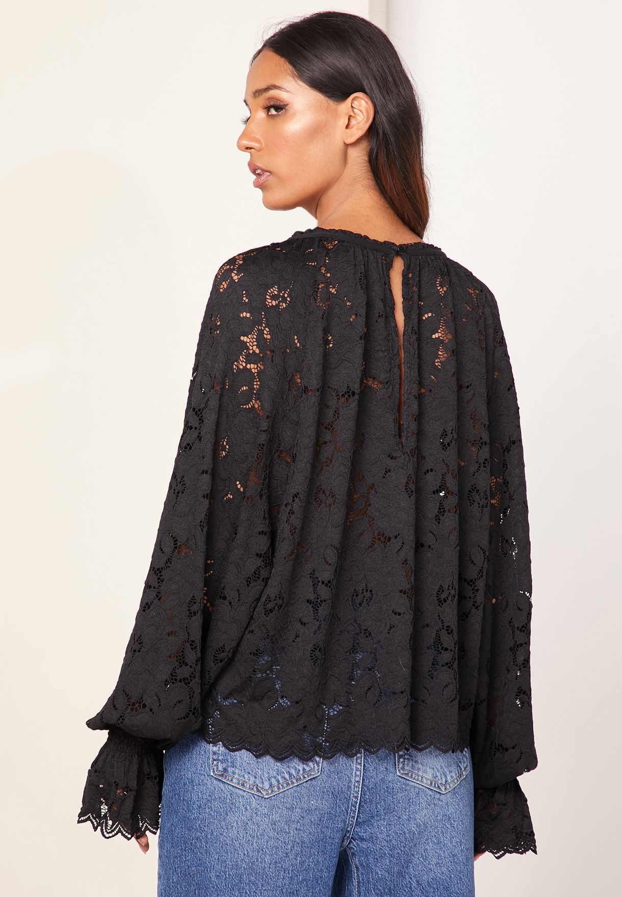 Olivia Lace Crew Neck Top