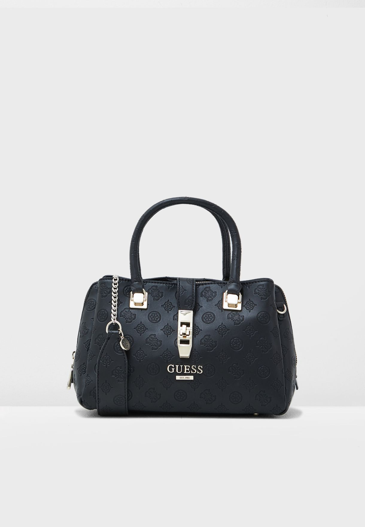 430290fa71 Shop Guess black Peony Classic Satchel SG739806 for Women in UAE ...