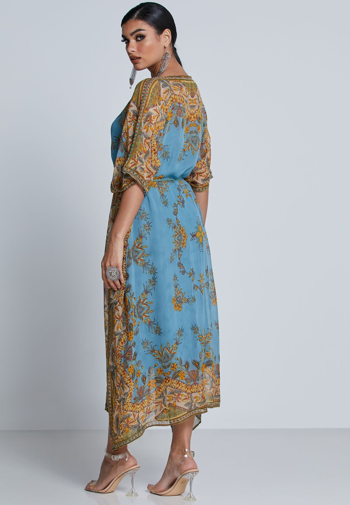 Printed Kaftan Dress