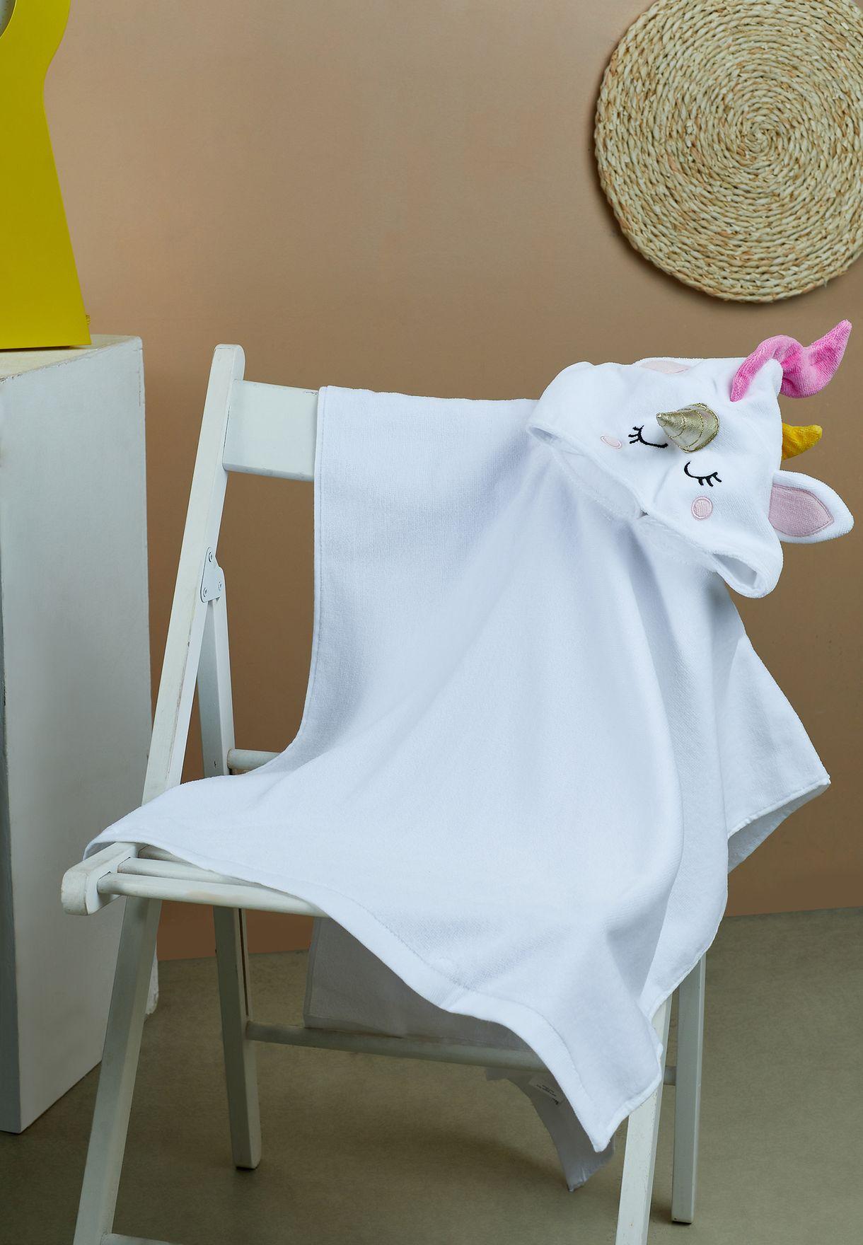 منشفة شاطئ بياقة هودي للاطفال