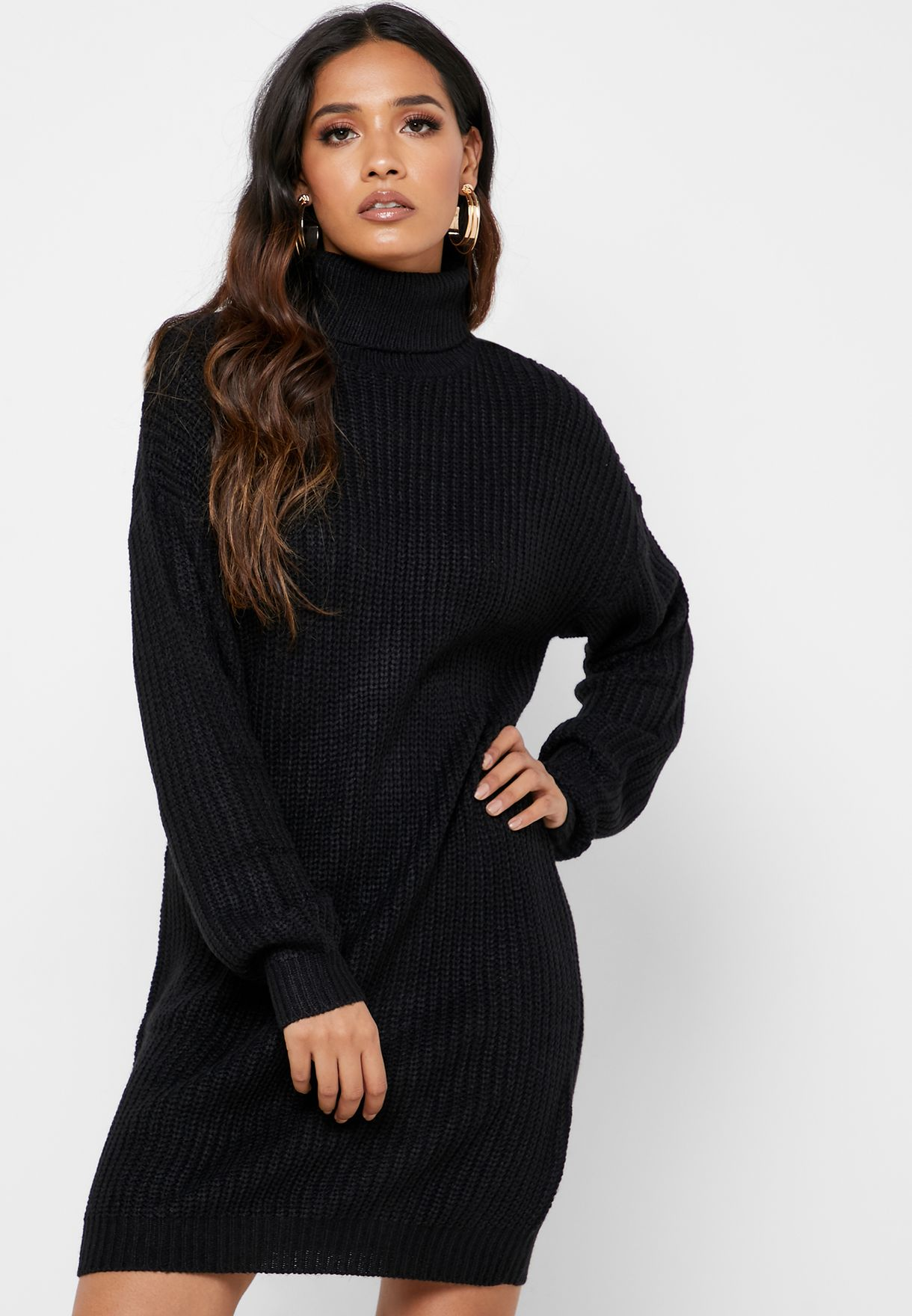 Roll Neck Sweat Dress
