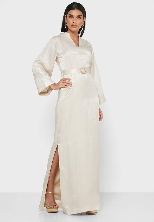 Embellished Buckle Dress