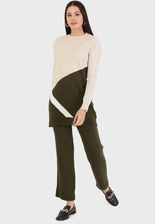 Knitted Tunic & Pants Set