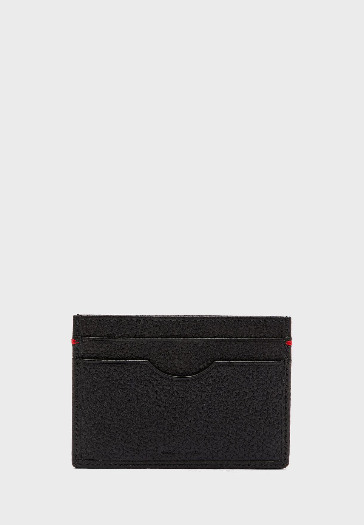 محفظة بطاقات جلد