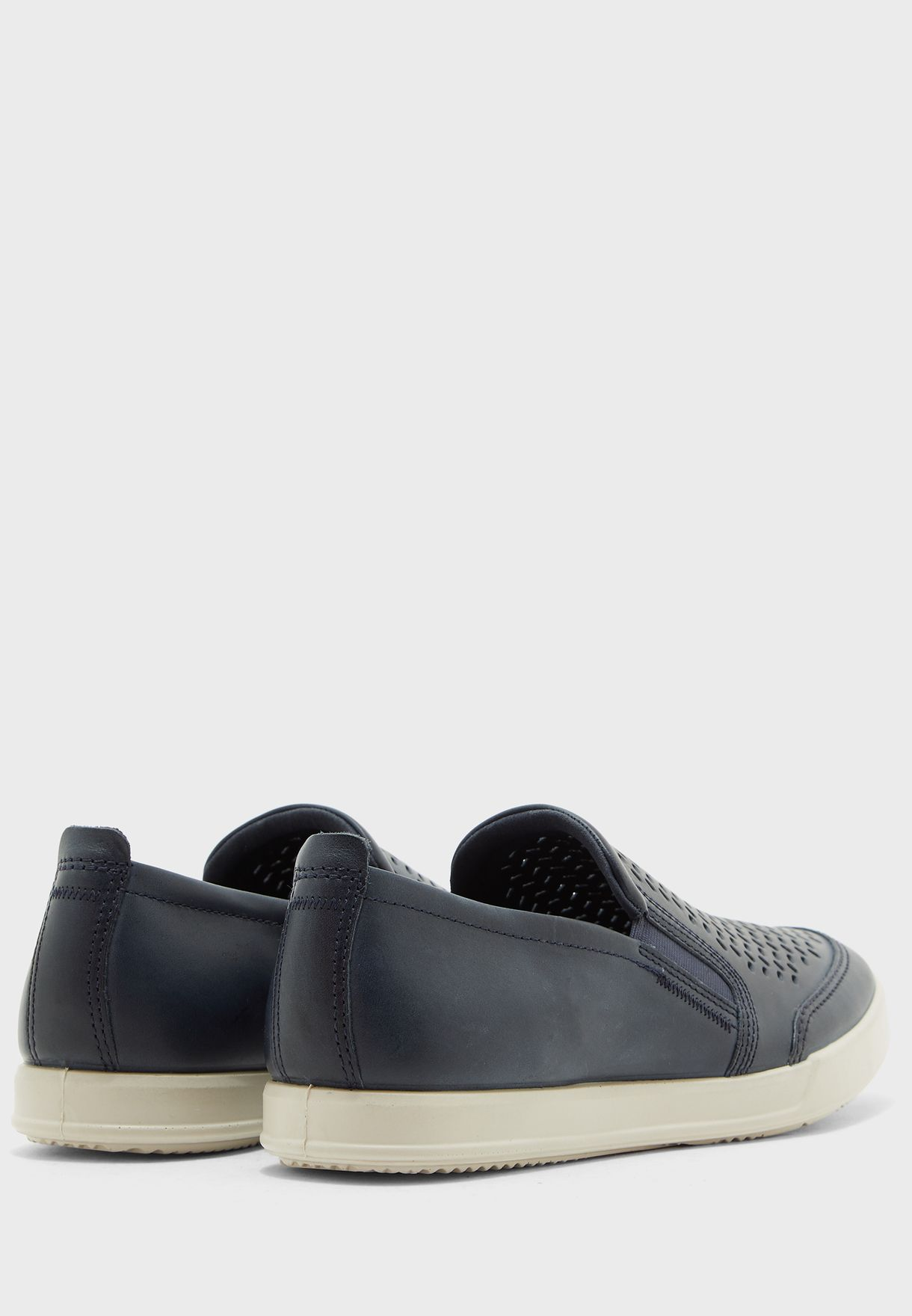 Ecco Collin 2.0 Perforated Slip Ons - Brand Shoes