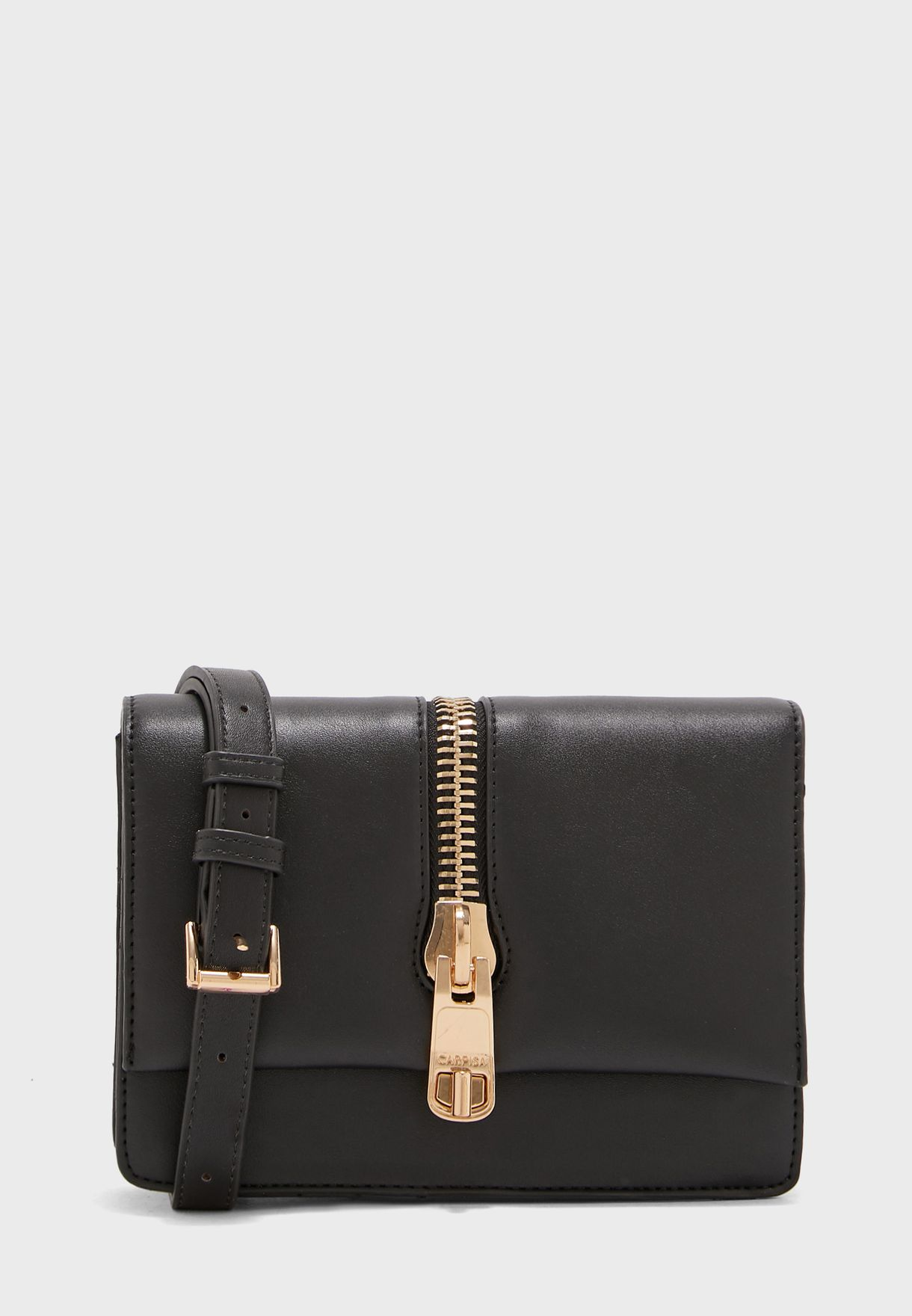 Flap Over Zipper Crossbody