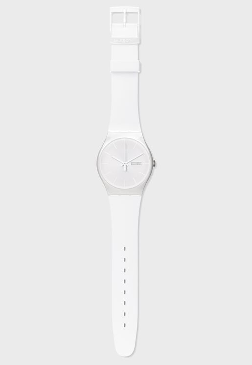 White Rebel Analog Watch