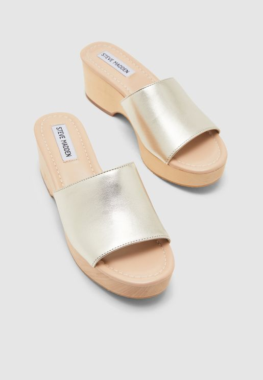 Clarke Single Strap High Heel Sandal - Gold