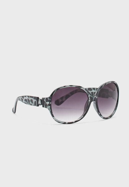 نظارة شمسية دائرية كبيرة