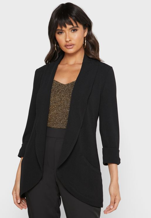 Shawl Collar Pocket Blazer