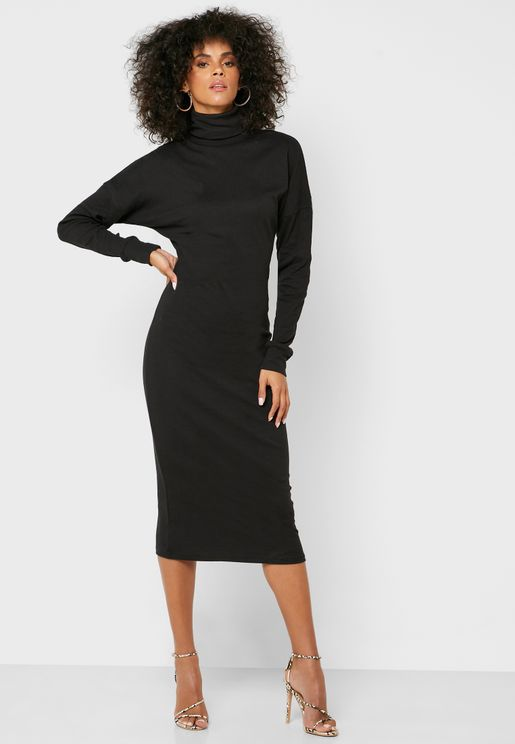 Oversized Ribbed Dress