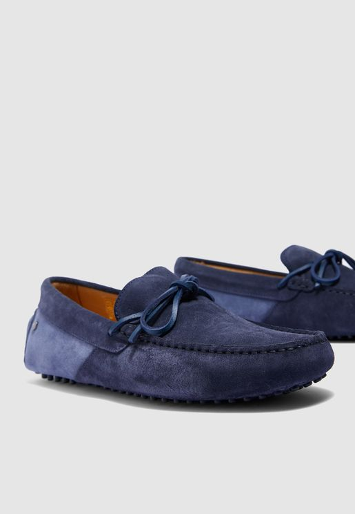 Color Block Laced Driver Loafers