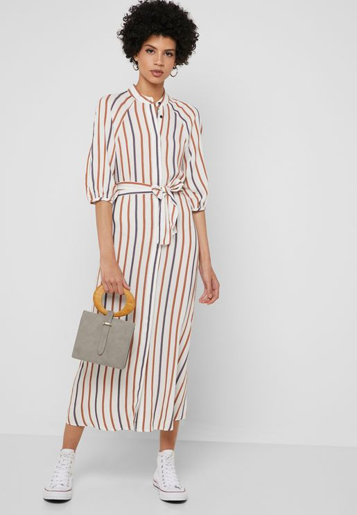 9c96674f1f Stripe Shirt Dress. Topshop