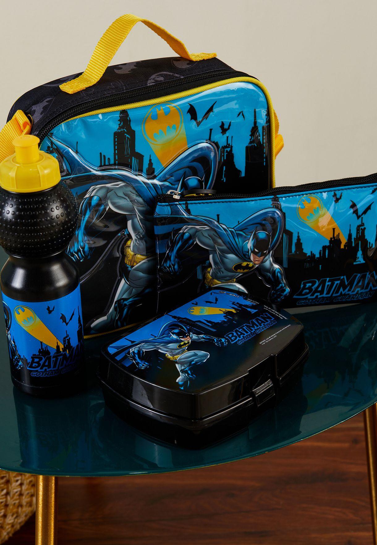 مجموعة شنطة ولوازم مدرسية بطبعة باتمان