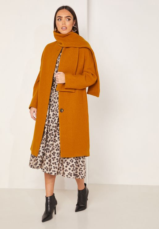 Mimi Wool Tie Neck Pea Coat