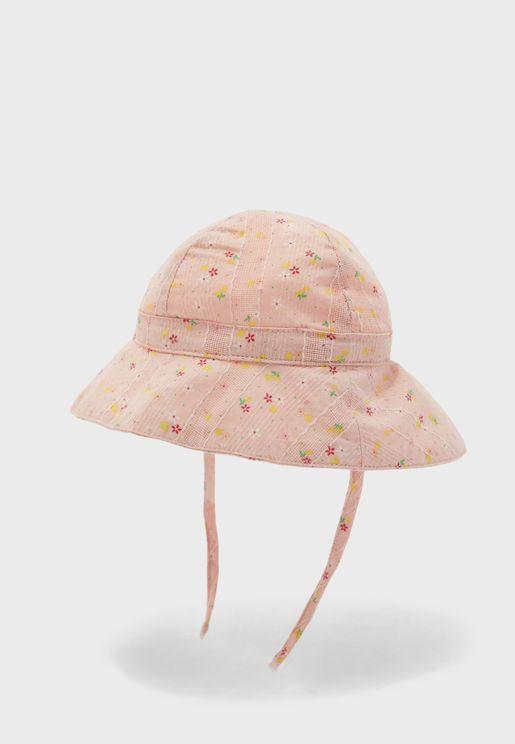 قبعة بطباعة زهور للاطفال