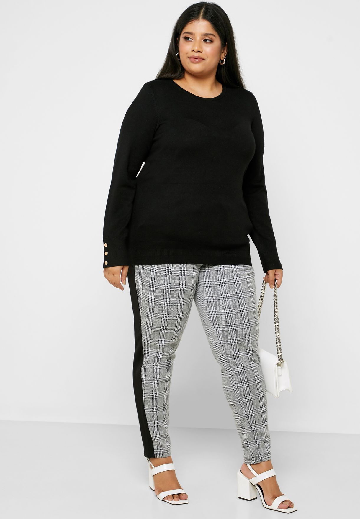 Checked Crop Pants