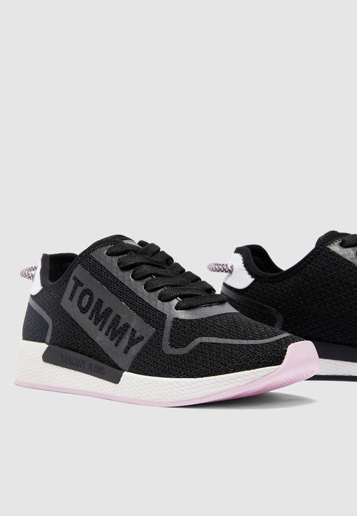 Technical Flexi Sneaker - Black
