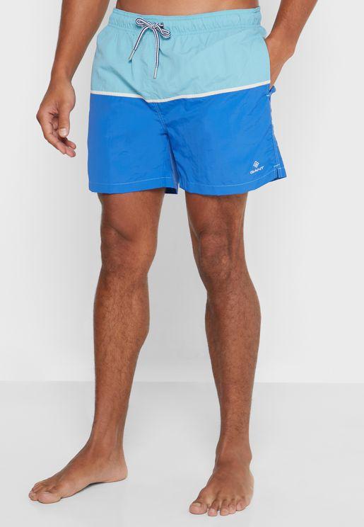 Color Block Swim Shorts
