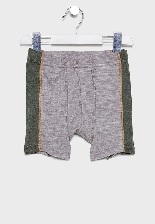 Kids Color Block Boxer Shorts
