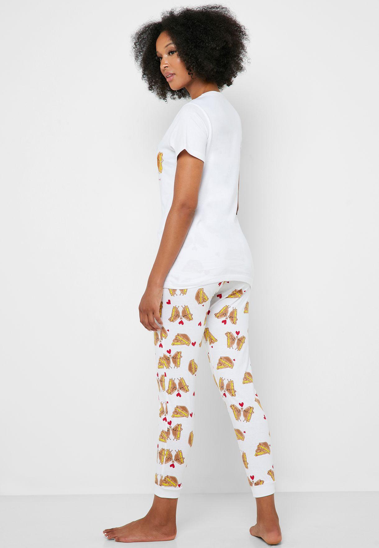 Novelty Print Pyjama Set
