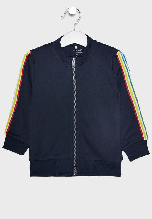 Kids Side Striped Jacket
