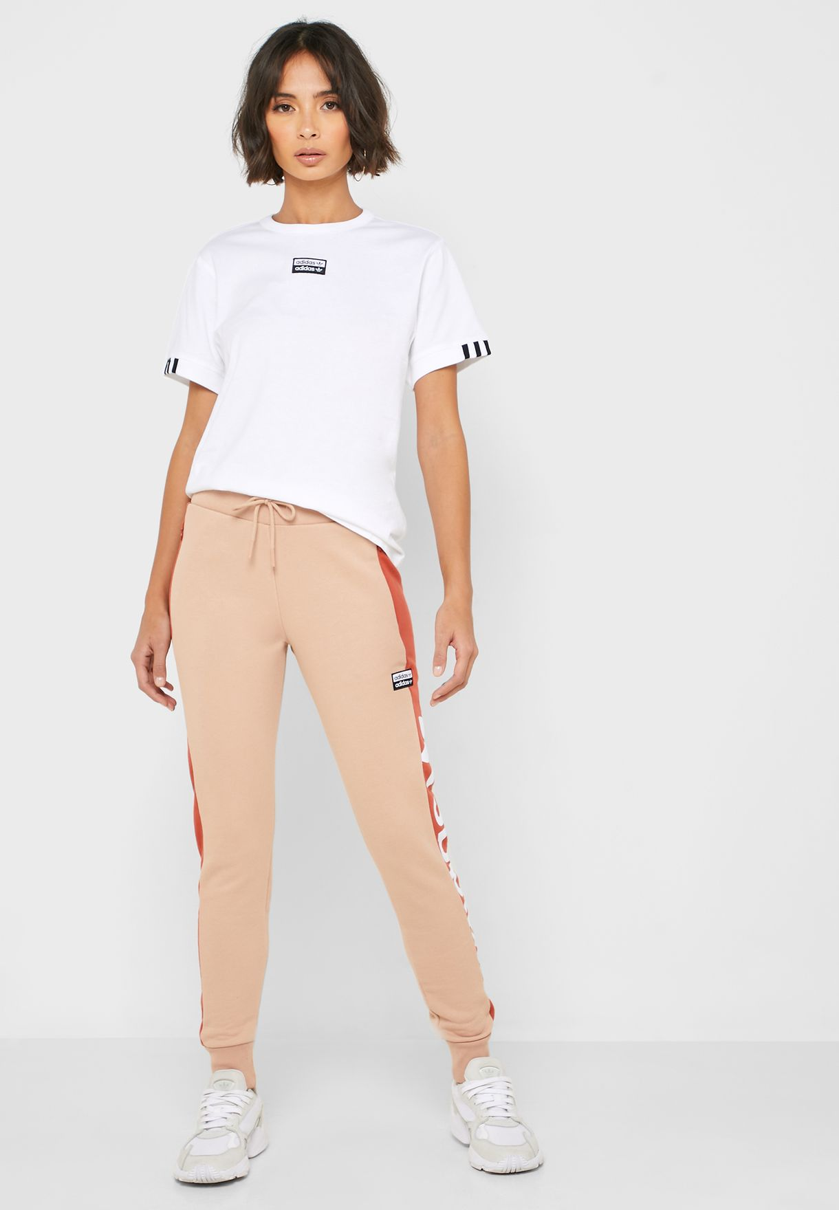 Side Logo Cuffed Sweatpants